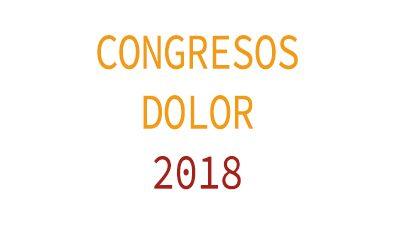CONGRESOS DOLOR 2018